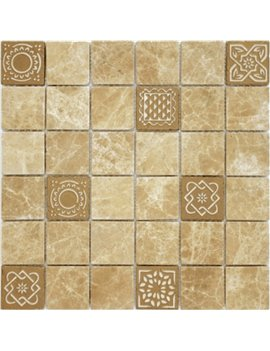 Мозаика Caramelle Art Emperador light 48x48x8 300x300x8